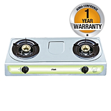 MGS2000  - Gas Stove, Table Top, Stainless Steel, Double Burner - Blue