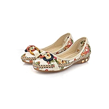 Women's Shoes Flat Casual Flat Loafers Round Toe Flats Colorful Round Toe Loafers White