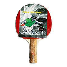 Table Tennis Bat - Pimple - Red & Black