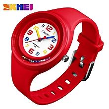 Kids 50M Waterproof Fashion Wrist Watch - Red