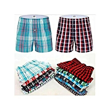 Boxer Shorts - 3 Pieces-Pure Cotton-(Colors may vary)
