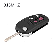 Justgogo 4 Buttons Car Remote Key Fob 315mhz 4D60 Chip W/ Uncut Blade For Jaguar X S XJ XK Type Car Key