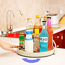 KCASA KC-SR04 360 Degree Rotating Drawer Seasoning Bottle Organizer Turntable Storage Rack Holder