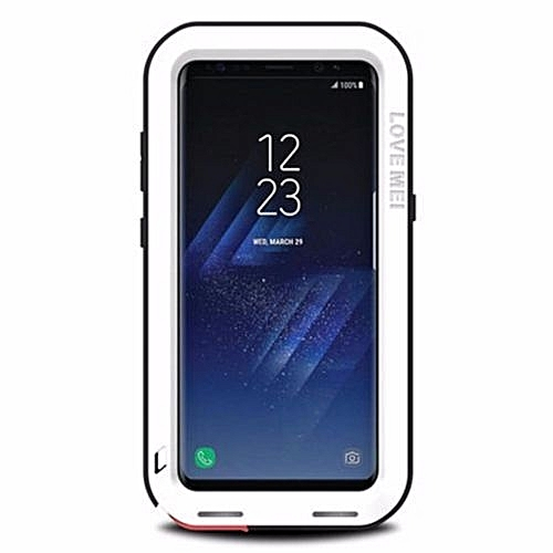 size 40 ff723 e735a Shock Dirt Proof Water Resistant Metal Armor Aluminum Silicon Cover Phone  Case Cover For Samsung Galaxy S8 Plus 6.2 Inch With Tempered Glass