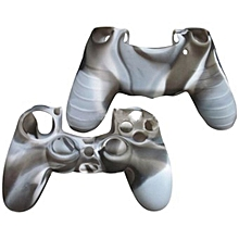 Camo Silicone Rubber Duable Protective Case Skin Grip Cover For Playstation 4 PS4 Controller