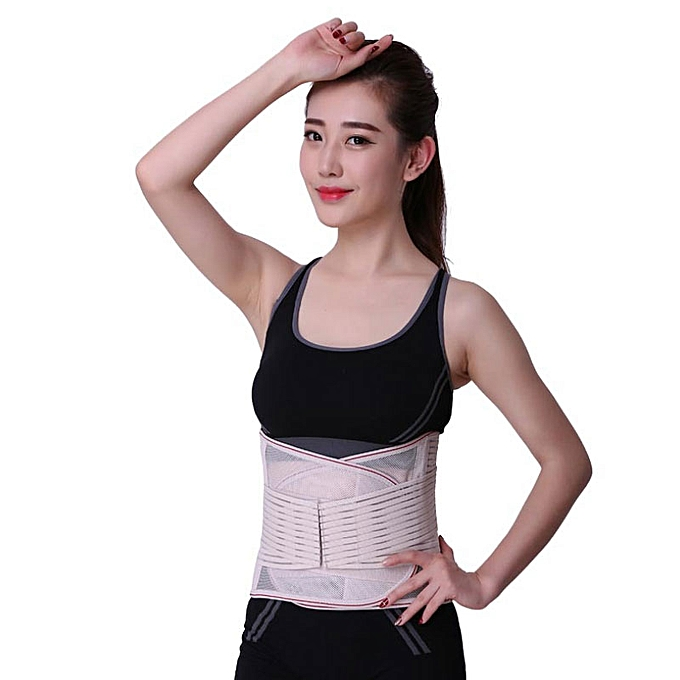 Women Medical Lower Back Brace Waist Belt Spine Support Men Belts  Breathable Lumbar Corset Orthopedic Back Support Belt