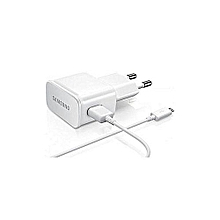 Micro USB Cable + Charger For Samsung Galaxy S6 - White