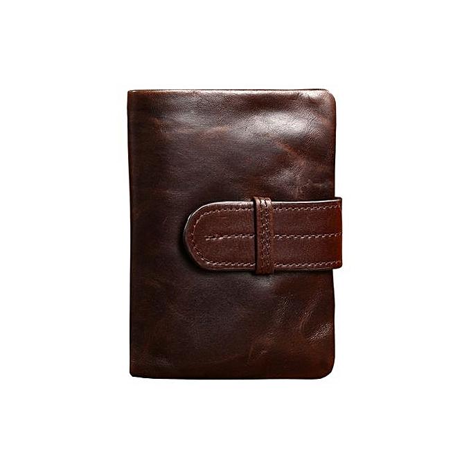 d968fad7e0 Men Wallets Famous Brand 100% Cowhide Genuine Leather Wallet Men Card  Holder With Coin Pocket Short Vintage Design Wallet Purse StyleA