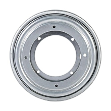 "Round Galvanized Turntable Bearing Rotating Swivel Plate (5.5"" Silver)"