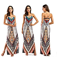 African Print Traditional Clothing Casual Party Dress-Grey