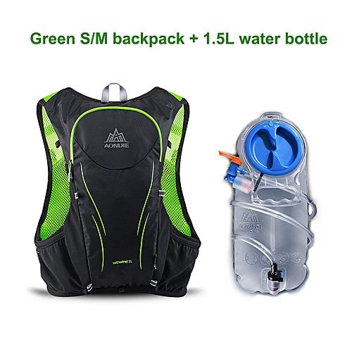 358a27a7133f 5L Hydration Outdoor Sports Backpack Water Bag Running Marathon Cycling  Bike Bags Camelback Water Bladder Mochila Hiking(green SM bag)
