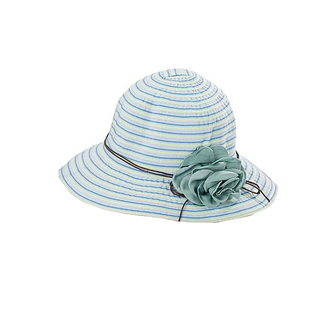 3ac46cce687 Eissely Summer Girl Women Wide Brim Beach Sun Hat Elegant Flower ...