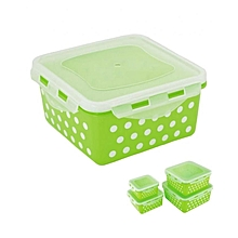 Locking Square Airtight Food Storage Container- Green