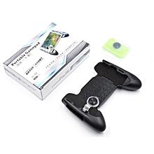 Adjustable Mobile Phone Game Pad Joystick Durable Shooter Trigger-black