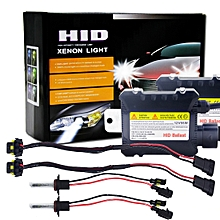 55W 9006/HB4 6000K HID Xenon Light Conversion Kit With High Intensity Discharge Alloy Slim Ballast, White