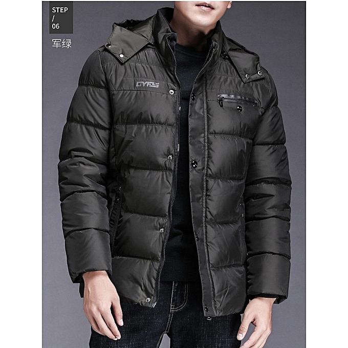 dbafb5a88c2 Winter New Men's Cotton Padded Plus Velvet Windproof Warm Hooded Slim  Casual Men Down Jacket