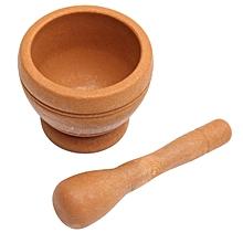 Resin Pestle & Mortar Set Garlic Herb Spice Mixing Grinding Crusher Bowl Tools#Wood
