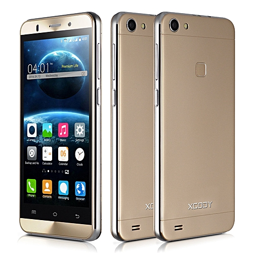 "5"" Android 5.1 Mobile Phone Smartphone 5MP 4 Core 8GB ROM GSM IPS qHD-gold"