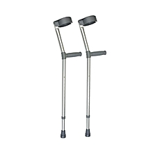 Adjustable Elbow Crutches - Silver