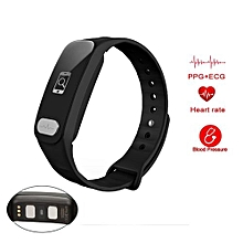 R11 Smart Watch Remote Controller Heart Rate Calls/SMS Sedentary Reminder Smartwatch - Black