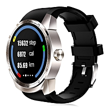 """K98H - 1.3"""" Android 4.1 3G Smartwatch 4GB ROM Waterproof Bluetooth GPS - Silver"""