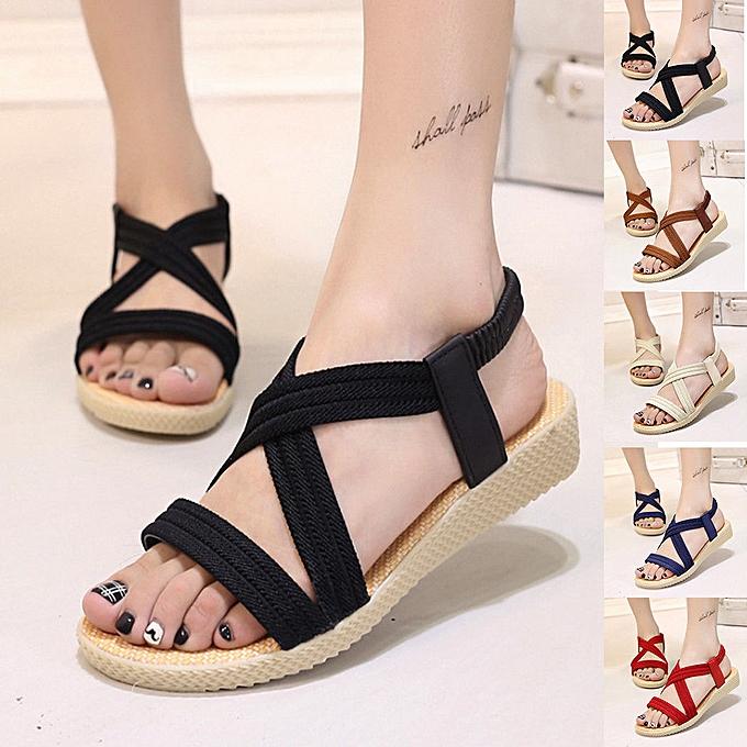 c591fc6a2cf Summer Shoes Women Flat Sandals Ladies Cross Strap Flip Flops Shoes Plus  Size