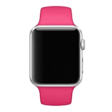 Fashion Sports Silicone Bracelet Strap Band For Apple Watch Series 1/2 42MM HOT-Hot Pink