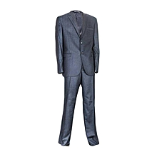 Blue Suit With Striped Detail