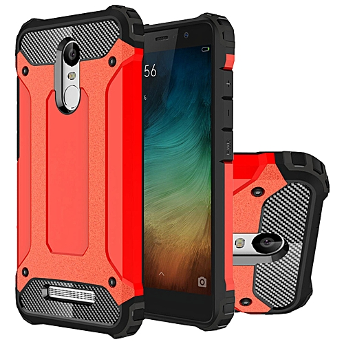 Generic Hongmi Note3 Case, Hybrid [Full Body] [Heavy Duty] Armor Case Dual Layer Shock Absorbing TPU Protective Case Cover for Xiaomi Redmi Note 3 Red