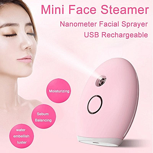 Nanometer hydrometer spraymeter cosmetic instrument facial humidifier cold spray evaporator holding portable