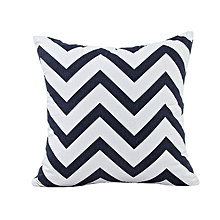 Africanmall store Home Car Bed Sofa Decorative Wavy Patterns Pillow Case Cushion Cover BK-Black