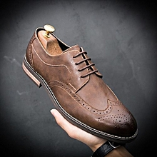 Men's Leather Shoes British Style Casual Leather Shoes Dress Shoes Wedding Shoes Business Working Shoes