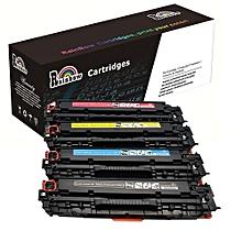 125A CB540A CB541A CB542A CB543A Toner Cartridge 4 Pcs A Set