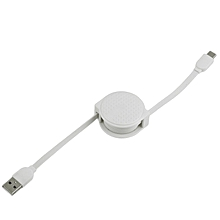 CAFELE 1M Super   Phone Type-C Cable Stretchable Data Sync Cable white