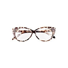 Women Sexy Cat-Eye Shape Eye Glasses Plastic Plain Frame Eyewear Leopard