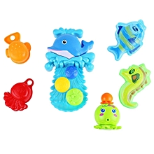 Baby Dolphin Squirt Water Bath Buttressed Spray Shower Toy Set