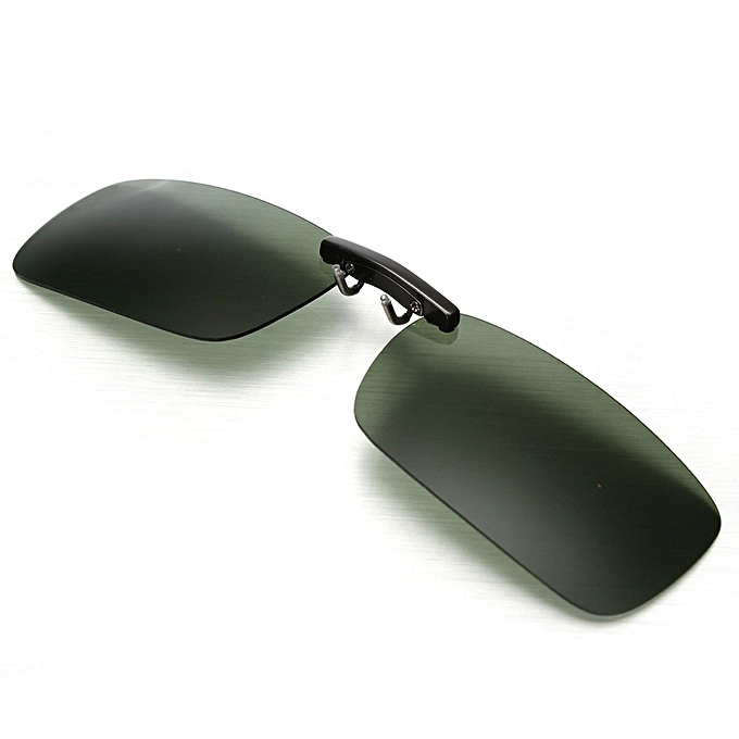 994702acfe Polarized Day Night Vision Clip-on Flip-up Lens Driving Glasses Sunglasses  HOT