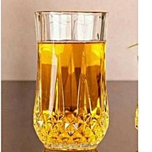 Crystal Long Drinking Glasses - 6 Glasses - Clear.