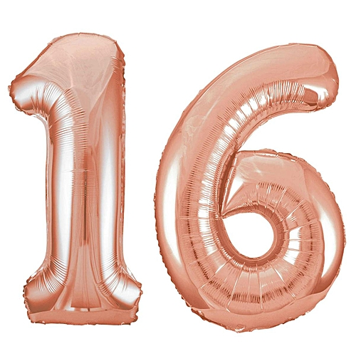 32 Giant 16th Birthday Party Number 16 Foil Balloon Helium Air Decoration Age