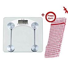 Digital Glass Bathroom Scale (+ Free Gift Hand Towel).