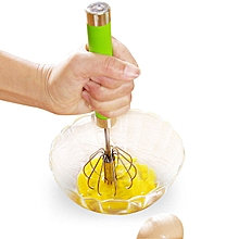 Honana Manual Self Turning Stainless Steel Miracle Push Magic Whisk Egg Beater Speed Kitchen Tool