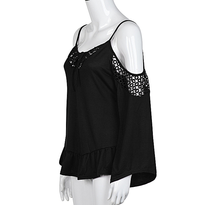 f61420cea71 Xingbiaocao Women Casual Loose T-shirt Tops Long Sleeve Off Shoulder Shirt  Blouse S -