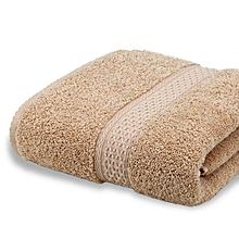 Bath Towel Unfading Pure Cotton Bibulous - Light Brown