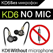 KD6 With Microphone Dynamic Driver Unit Headsets A xYx-S