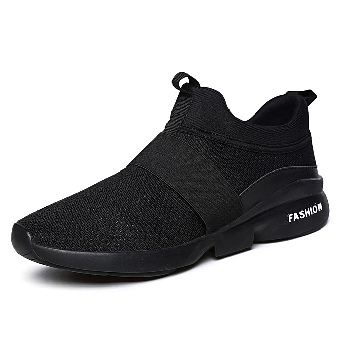 6d7ba406d405 Women's Mens Sneakers Tennis Shoes - Lightweight Mesh Slip on Running  Walking Workout Shoes Black