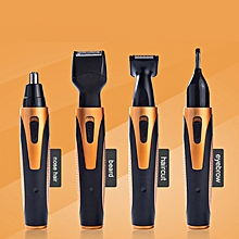4 In 1 Rechargeable Mens Nose Ear Temple Hair Trimmer Beard Shaver Grooming Kit US Plug