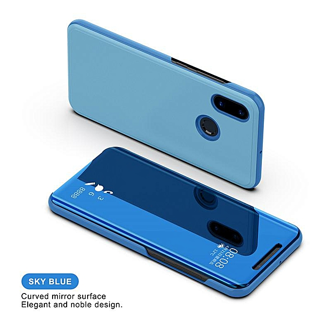 cheap for discount d6aa9 facf3 For Xiaomi Redmi Note 5 Pro Luxury Smart Plating Mirror View Flip Cover  Case for Xiaomi Redmi Note 5 Mirror Window Flip Stand Leather Case Cover ...