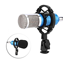 Professional Voice Recorder Condenser Microphone Studio Sound Recording Mic With Shock Mount