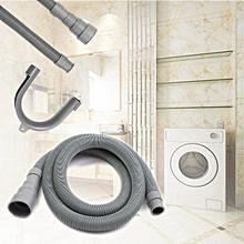 2.5M Washing Machine Dishwasher Drain Hose Extension Pipe W/ Bracket Kit