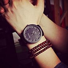 Elegant Unisex Man Women PU Leather Quartz Watch Luxury Unique Stylish Lady